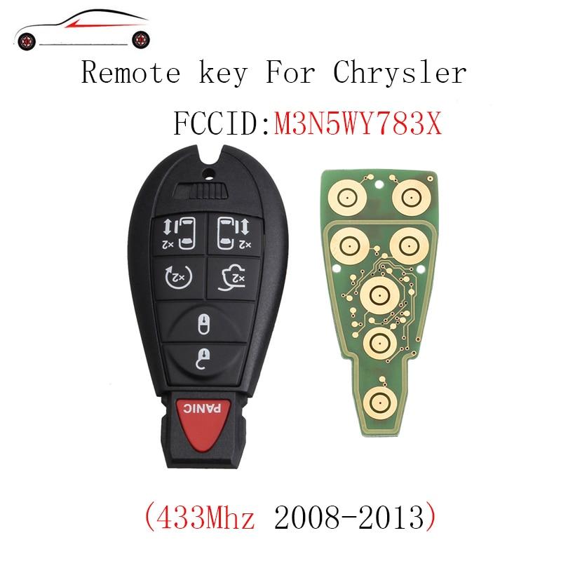 GORBIN 7BT 433Mhz Uncut Replacement Fobik Smart Key Fob Keyless Remote For Chrysler Dodge 2008-2015 M3N5WY783X Original key