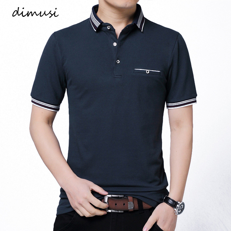 DIMUSI Mens Polo Shirts Summer Men Fashion Short Sleeve Cotton Shirts Mens Business Polo Tees Para Hombre Clothing 5XL,YA880