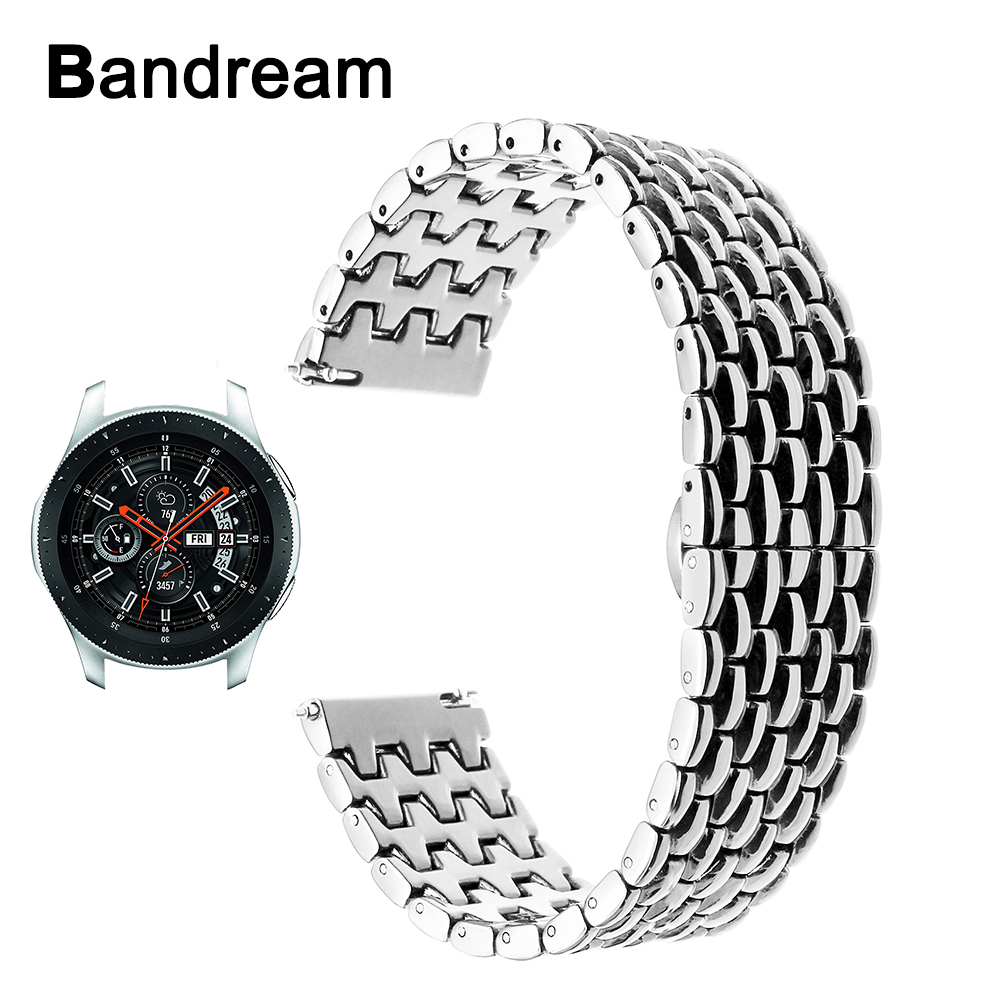 22mm Stainless Steel Watchband Quick Release for Samsung Galaxy Watch 46mm SM-R800 Butterfly Clasp Band Wrist Strap Bracelet curren luxury military quartz watches men casual analog military sports watch quartz watch clock male wristwatches