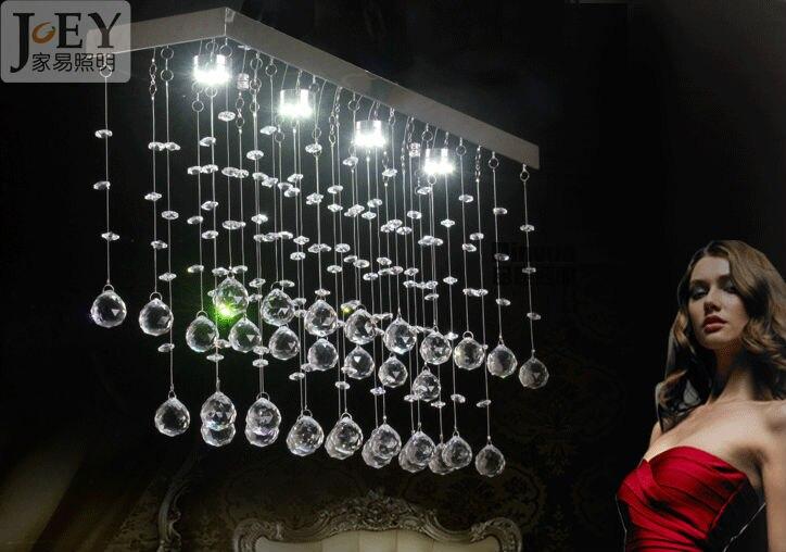 Новая современная навесная люстра лампа для столовой Guaranteed100 % современные светильники с украшением в виде кристаллов волна 12 Вт Светодиодн