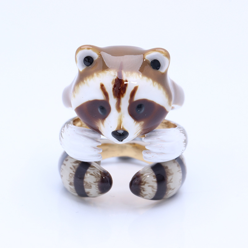 все цены на Europe and the United States Style Cute Raccoon For Women Set of Rings