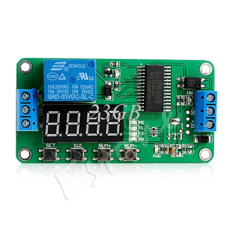 DC 5V Multifunction Delay Time Switch Self-lock Relay PLC Cycle Timer Module JUL24_15 1pc multifunction self lock relay dc 12v plc cycle timer module delay time relay