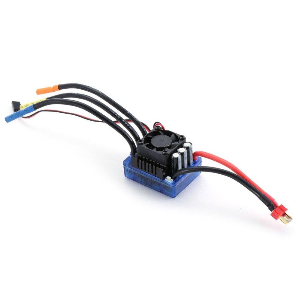 Rc 4076 2000KV 4 polos Sensorless Motor sin escobillas 120A ESC con juego combinado de tarjeta de programación LED para coche 1/8 RC camión-in Partes y accesorios from Juguetes y pasatiempos    2