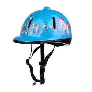 Image 5 - قبعة ركوب الخيل للأطفال قابلة للتعديل/خوذة رأس واقية خوذة احترافية للخيول معدات رياضية خارجية