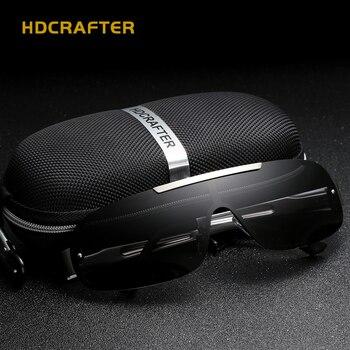 2499d177e Gafas de sol polarizadas de los hombres 2019 Vintage gafas de sol hombres  HD revestimiento interior