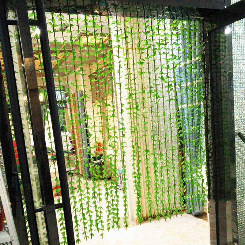 Creative Uses For A Curtain Wall : Creative leaves string curtains door cortinas office