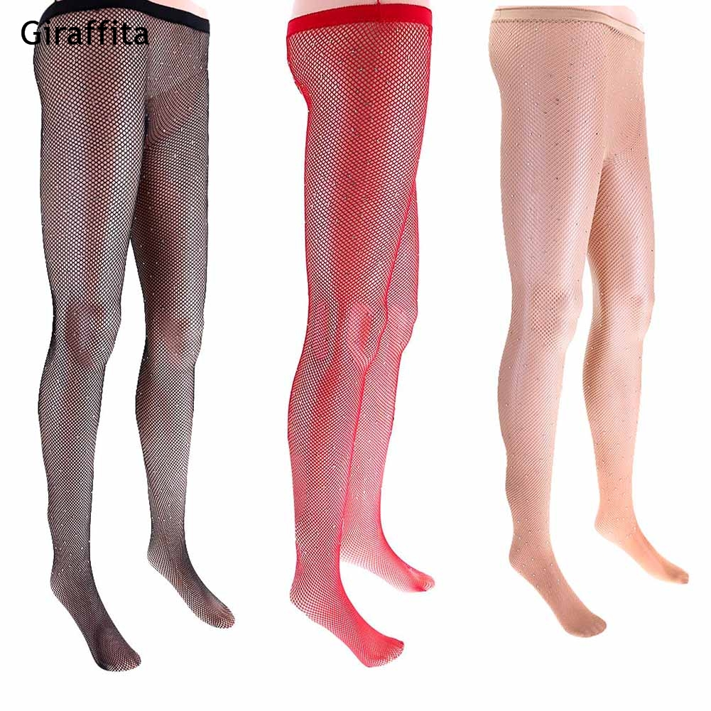 Hot Sale Shine Fishnet Tights Pantyhose Stockings for Women Multi Color Diamonds Fish Net Tights Plus Size