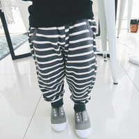 Children's wear, boys and girls sports pants, children's striped casual pants, cotton terry, Haren pants, trousers