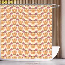 cool shower curtain floral autumn season toned blooms with daisies poppy flowers unusual mixed pattern teal