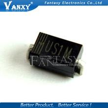 100 шт. с выпрямительным диодом HER108 1A 1000V SMA US1M