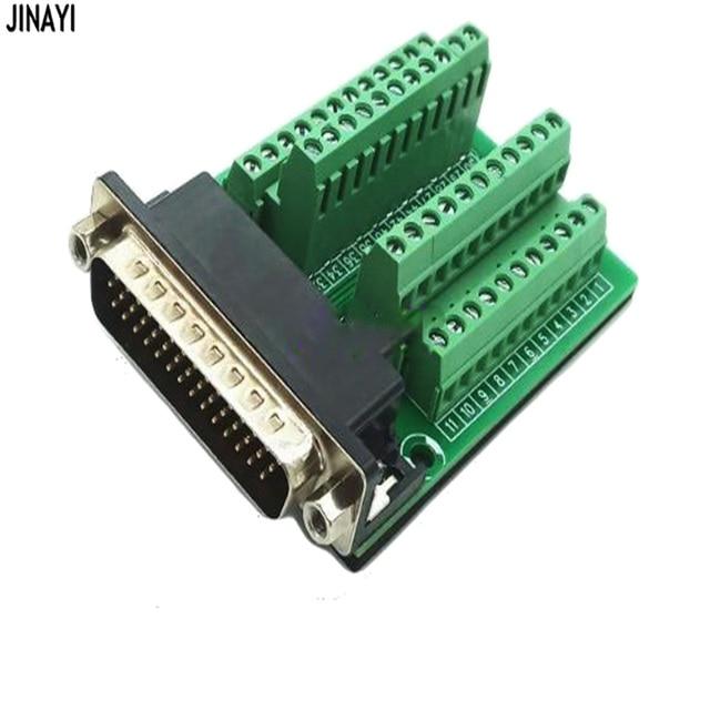 DB44 44 conector de montaje de riel DIN macho hembra Mini Terminal Breakout adaptador de placa Tipo PCI