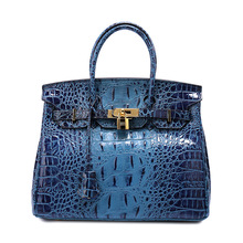 2019 new European brand high quality genuine leather female bag crocodile tattoo lady handbags free shiping DHL brand new 20 pp01080 ser a with free dhl
