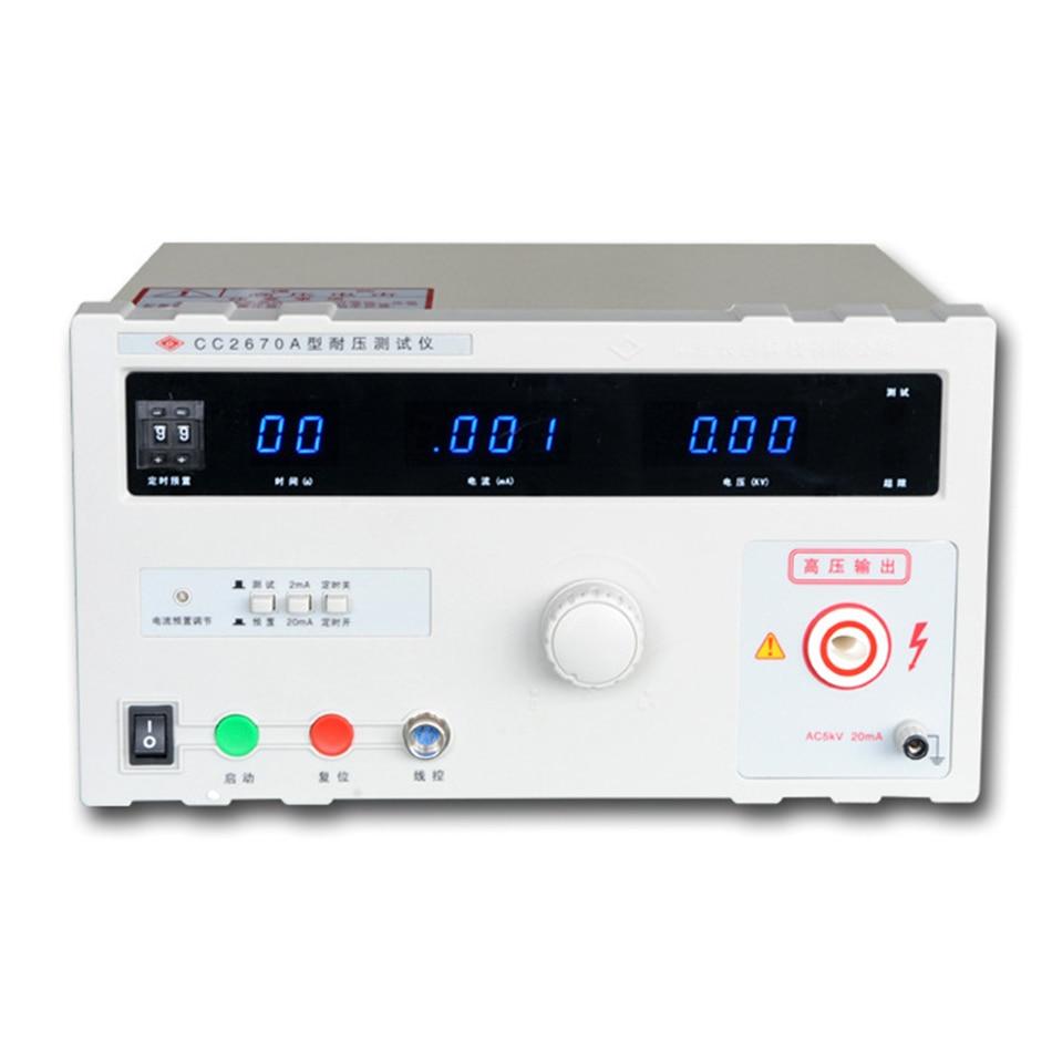 CC2670A ChangChuang AC testeur de tension testeur de tension sortie Voltage0-5KV (AC), plage de courant de fuite 0-2/20mA (AC)
