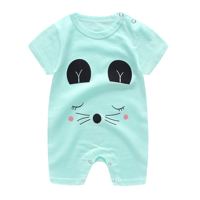 baby clothes 100% cotton short sleeve summer girls boys rompers toddler infant 0-18 months clothes 1
