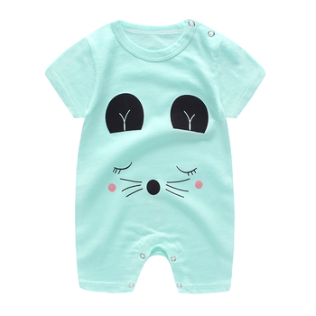 baby clothes 100% cotton short sleeve summer girls boys rompers toddler infant 0-18 months