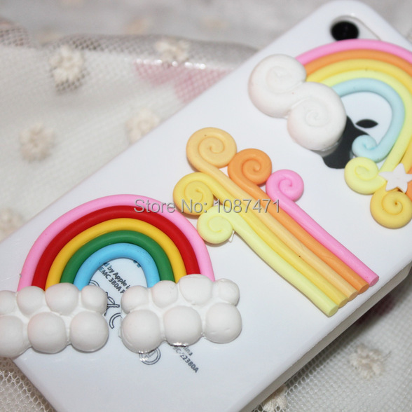 Innovation Rainbow Cake Resin Fashion Accessories Phone Shell Diy