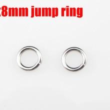 1,0x8 мм соединительные кольца из нержавеющей стали 1000 шт/Партия DIY ожерелье аксессуары цепи части
