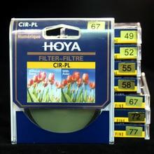 Хойя CPL фильтра 40.5 мм 43 мм 46 мм 49 мм 52 мм 55 мм 58 мм 62 мм 67 мм 72 мм 77 мм CIR-PL тонкий кольцо поляризатор фильтр для Nikon Canon