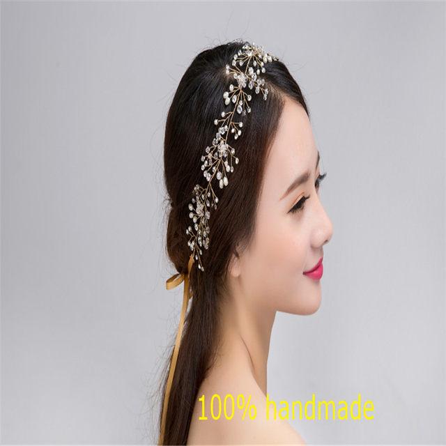Online Shop Gorgeous Crystal Bridal Headband Wedding Rhinestone ...