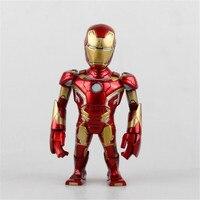 The Avengers 2 Iron Man Q versão Brinquedos PVC Action Figure Juguetes Figurine Collectible modelo balançando a cabeça da boneca crianças Brinquedos