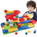 1 Unidades divertido diy asamblea correr en pista de carreras colorido construcción kids juegos de bolas rodando laberinto juguetes de bloques de construcción de pista para niños