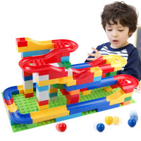 1Set Funny DIY Assembly Race Run Track Colorful Construction Kids Gaming Balls Rolling Maze Track Building