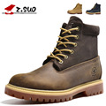 Autumn Winter Men Boots Leather Shoes Mens Solid Comfortable Cow Muscle Flat With Martin Boots Male Zapatos Hombre SG047