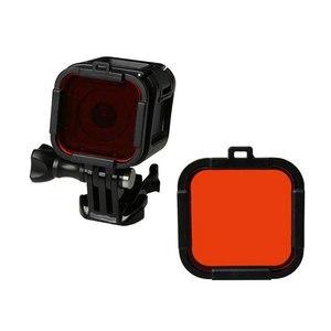 Image 4 - Wodoodporny filtr nurkowy 4 kolorowy filtr do nurkowania czerwony fioletowy żółty szary osłona obiektywu osłona obiektywu dla Gopro Hero 4 sesja 5 sesja