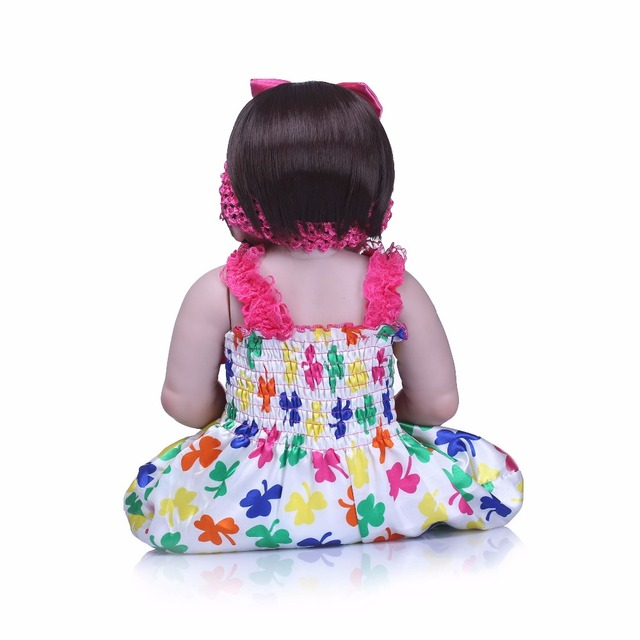 Silicone Reborn Baby Dolls Lovely Doll For Baby Gift 6