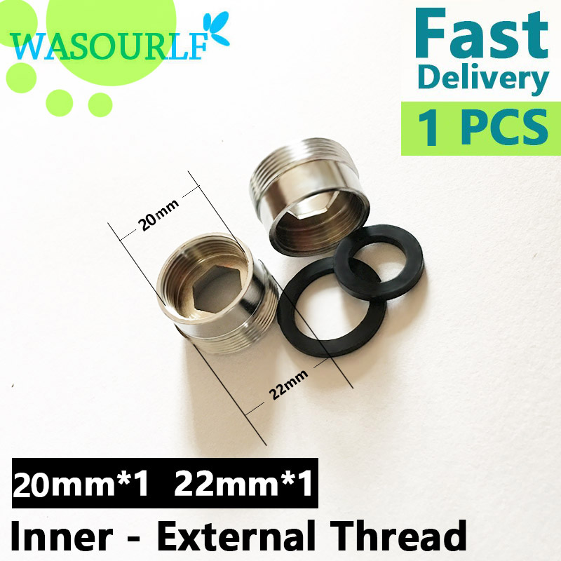 WASOURLF 1PCS male thread transfer 20 22 mm female connector outer adapter shower bathroom kitchen brass faucet accessories