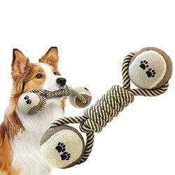 Brinquedos do cão pet mastigar brinquedos para o cão haltere corda tênis pata bola filhote de cachorro cão dentes limpeza ferramenta de treinamento