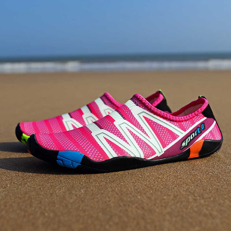 Unisexรองเท้าน้ำแห้งเร็วว่ายน้ำAquaรองเท้าSeasideรองเท้าแตะSurf Upstreamกีฬารองเท้ารองเท้าผ้าใบ