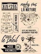 צרפתית ברור חותמת חותם שקוף DIY רעיונות/כרטיס ביצוע c533