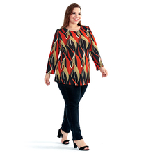 Women's Bohemian Orange Plus Size Loose Top