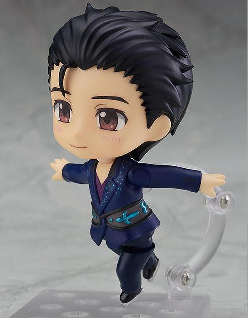 Yuri On Ice Nendoroid Action Figure Victor Nikiforov 762# PVC 10CM Doll Toy Model Anime Yuri On Ice Figurine
