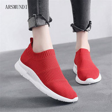 ARSMUNDI Fast delivery Women Casual Shoes Fashion Breathable Walking Flat Sneakers 2018 tenis feminino M151