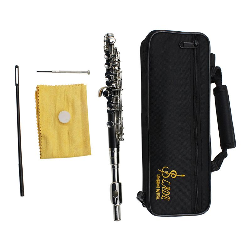 C Key Tone Half-size Flute Piccolo Musical Instrument with Cleaning Stick Padded Case ScrewdriverC Key Tone Half-size Flute Piccolo Musical Instrument with Cleaning Stick Padded Case Screwdriver