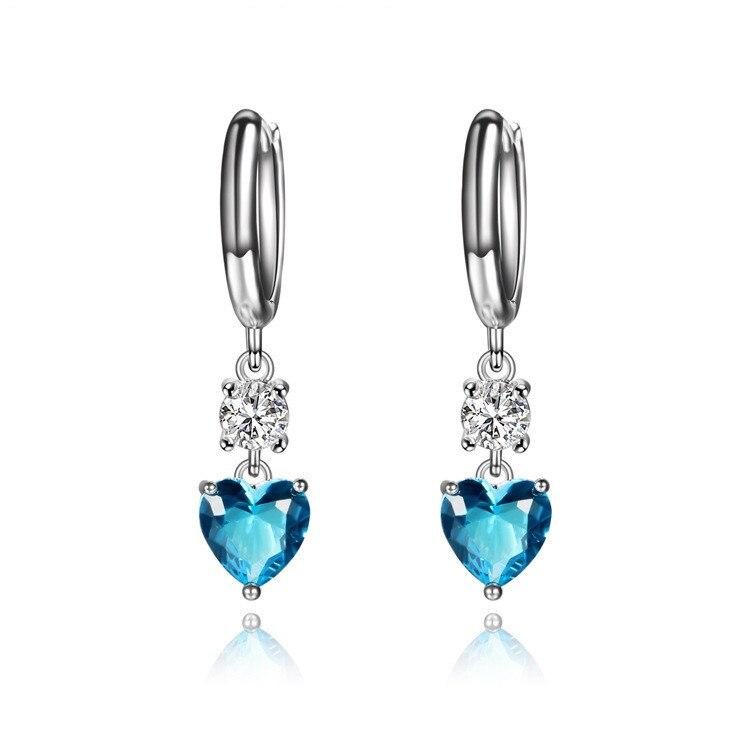CMAJOR 2017 Wedding Decoration Luxury Big Multicolor CZ Drop Long Earrings for Women Best Friend Gift