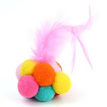 Beautiful Cat Toy Interactive Pet Kitten Feature Toys Catnip Scratcher Playing Ball Bell For Cats Products
