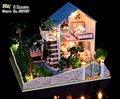 Chegam novas Diy Doll House Modelo de Construção Kits 3D Handmade de Madeira Em Miniatura Dollhouse Toy Greative Presente do Aniversário do Natal