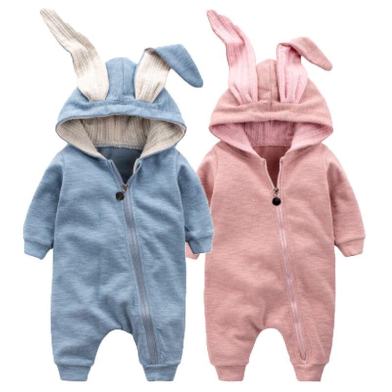 Cotton Baby Girl Clothes Wiosna Baby Rompers Cute Baby Boy Odzież - Odzież dla niemowląt - Zdjęcie 1
