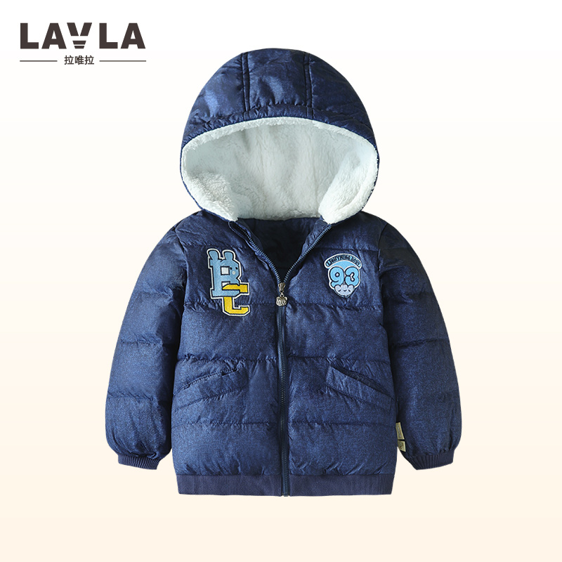 Lavla 2017 boys Girls outerwear thicken down winter Hooded Coat baby Jackets Kids Coat children's clothing Thick Down & Parkas 2 pcs children set baby boys girls clothing sets winter hooded down jackets trousers waterproof thick warm kids outerwear xl242