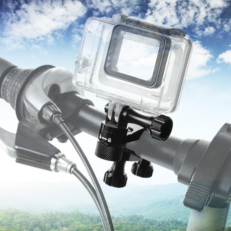 Aluminum Bicycle clamp 360 Degree Rotation Bike Handlebar Adapter Mount & Screw For GoPro Hero 7 6 5 DJI OSMO Action Camera (11)