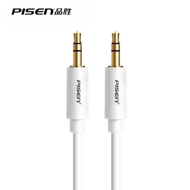 PISEN Марка 3.5 мм Между Мужчинами Стерео Аудио Кабель Автомобиль Аудио Кабель Вспомогательный Aux Car Audio Connectiong Line 1.5 m
