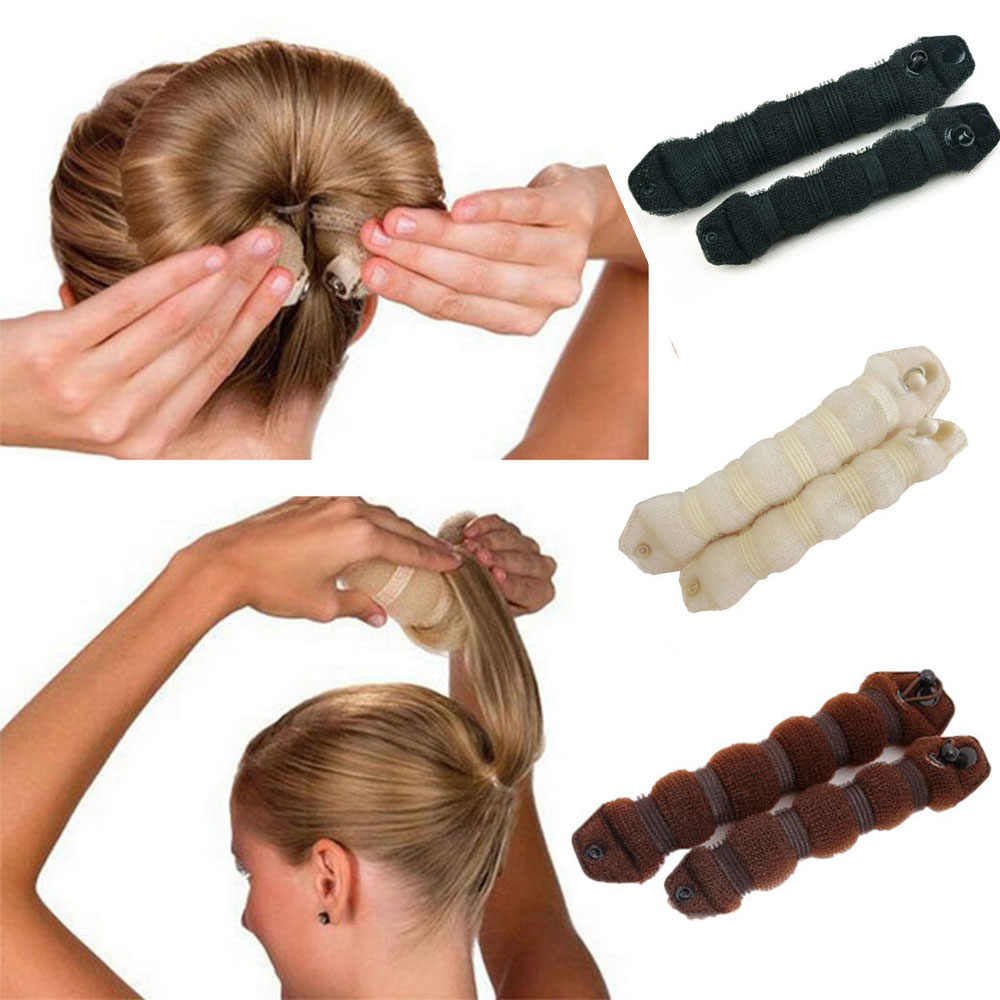 2 шт., Женский инструмент для укладки волос, волшебная губка, булочка, Пончик, кольцо, формирователь, пена для плетения, инструмент для девушек, сделай сам, стиль волос