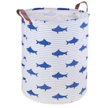 New Unik Dilipat Canvas Washing Portable Foldable Cloth Storage Container Home Kids Toys Holder Basket