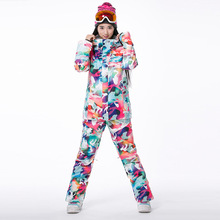 New Brand Winter Ski Suit Female Camouflage Snowboard Ski Jacket+Pant Windstopper Waterproof Ski Wear