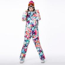 New Brand Winter Ski Suit Female Camouflage Snowboard Ski Jacket+Pant Windstopper Waterproof Ski Wear