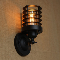 American industry lampshade wall lamps Retro Vintage lamp chimney Edison Light Bulb Fixture Cage
