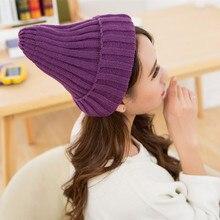 Unisex Japón y Corea del Sur caliente mujeres de sombrero de lana de punto  de tapas 0c1eabfe4a4